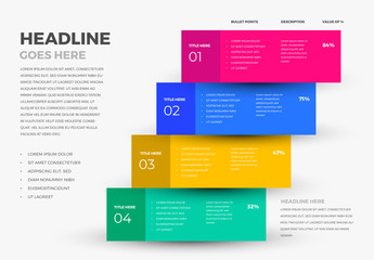 Colorful 4 Step Infographic Layout