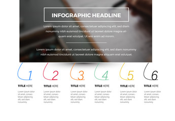 6 Step Infographic Layout