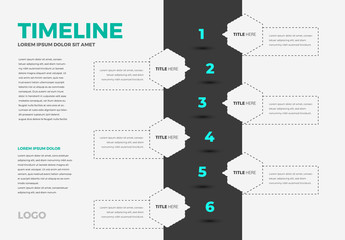 Infographic Layout with Neon Accents