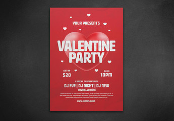 Valentine's Day Party Flyer Layout
