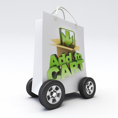 Add to cart on wheels