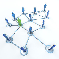 contact network green and blue