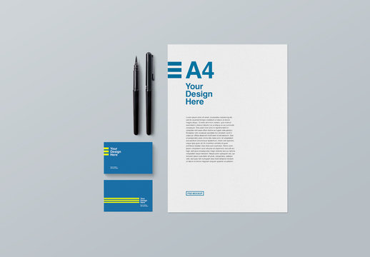 Business Card and Letterhead Mockup