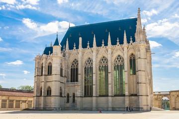 Europe, France, Vincennes, Chateau de Vincennes, The Sainte Chapelle Wall mural