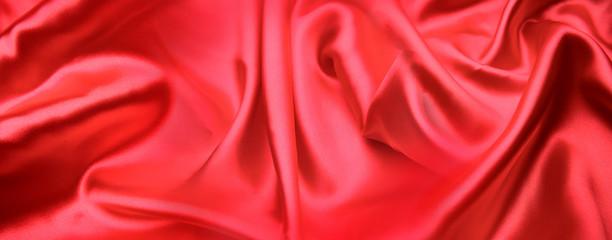 Red silk fabric