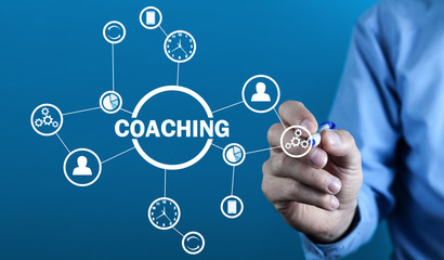 Business Coaching. Personal development concept. Concept of  technology, internet