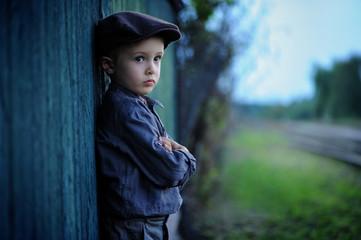 Portrait of a 4 year old sad boy