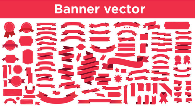 Banner vector icon set