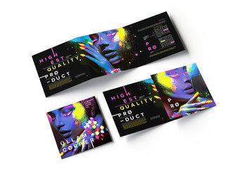 Square Trifold Brochure Layout