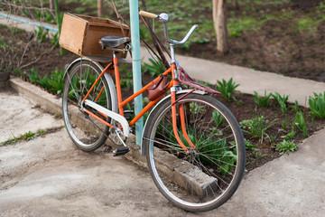 Old bike in spring