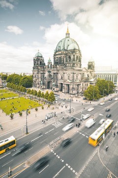 Dome and busy Street - Berlin