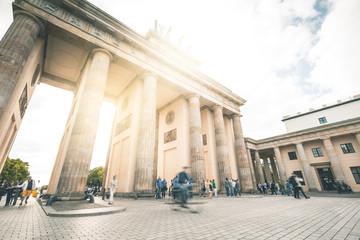 Busy Brandenburg Gate Plaza - Berlin
