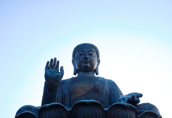 Big Buddha . Po Lin Monastery , Lantau island , Hong Kong