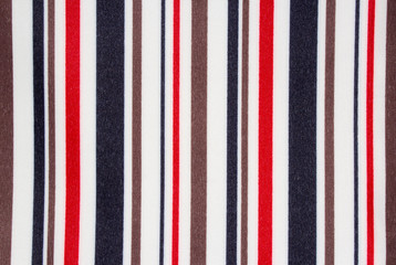 Background fabric in colored stripes.