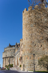 Fotomurales - City walls and cathedral in Avila, Spain