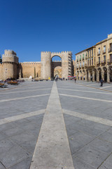 Fotomurales - City gate on the Teresa square of Avila, Spain