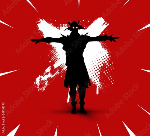 Fortnite illustration  Battle royale concept  Scarecrow(skin