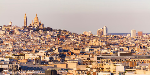 Montmartre mit Sacré-Coeur, Stadtansicht, Paris