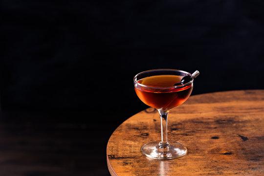 Refreshing Bourbon Manhattan Cocktail