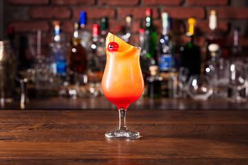 Fototapete - Refreshing Rum Hurricane Cocktail