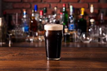 Obraz Refreshing Dark Stout Craft Beer - fototapety do salonu