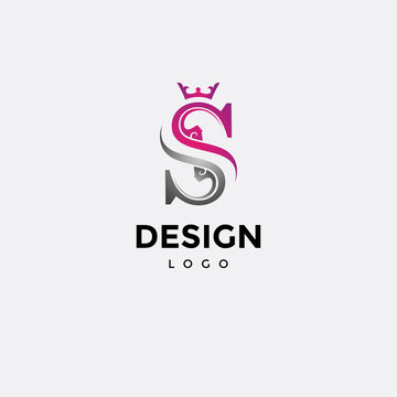 Vector logo design, beauty and initials s