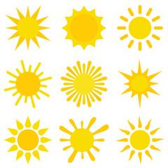 Sun vector icon set