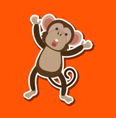 A simple monkey character