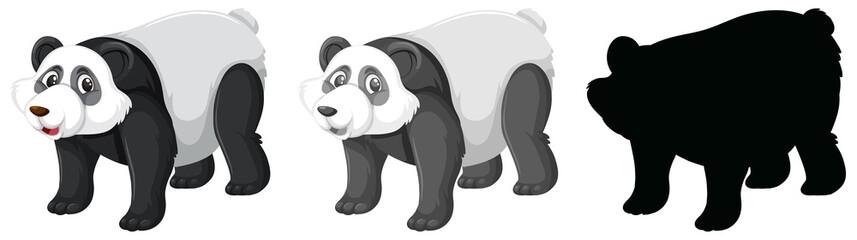 Set of panda character