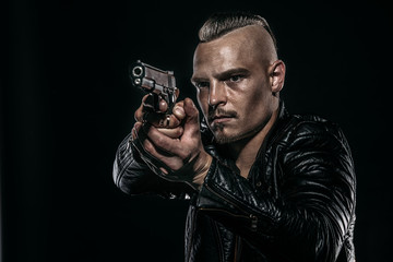 serious gangster man