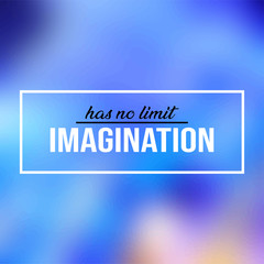 imagination has no limit. Life quote with modern background vector
