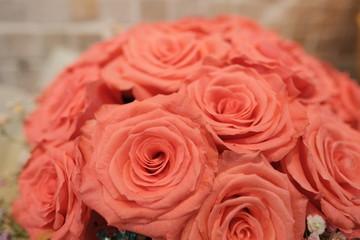 Romantic Flower bouquet arrangement with orange rose