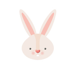 rabbit head isolated icon