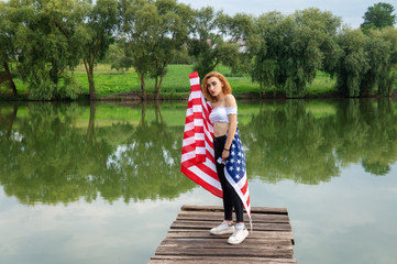 Flag of the USA is a woman.