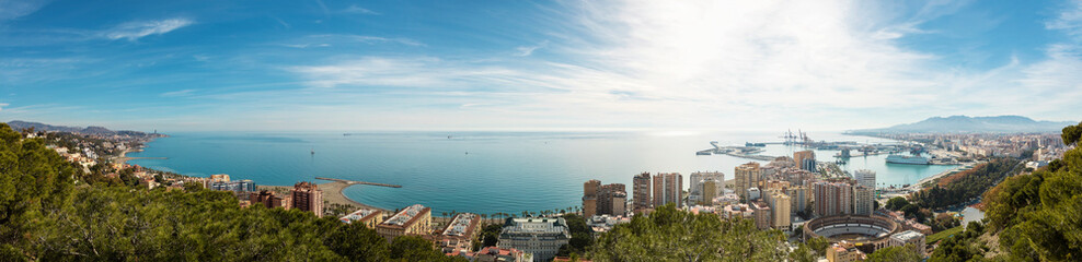 panorama view of Malaga coast