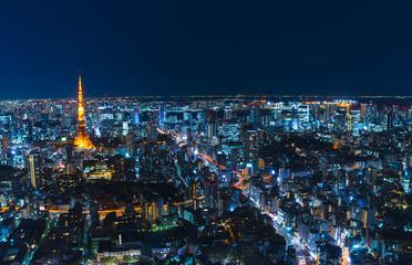 東京夜景 地平線