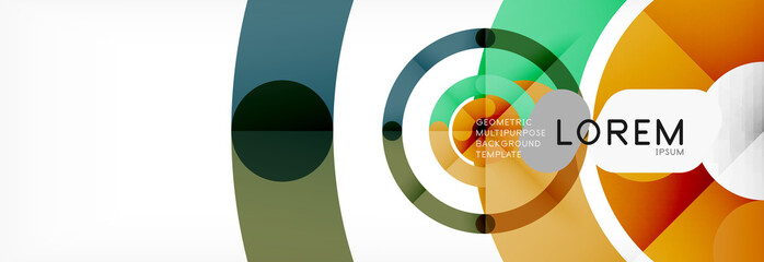 Linear design circle background