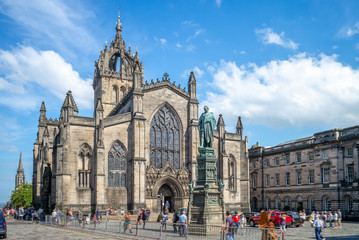 St Giles Cathedral on Royal Mile in  edinburgh