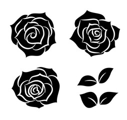 Rose icon set