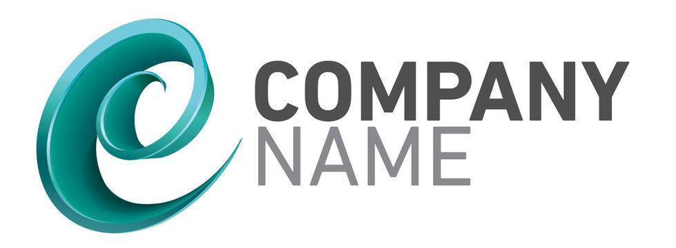 Logo design et moderne pour entreprise  lettre E ou C en spirale