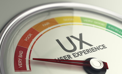 Measuring UX, Very Bad User Experience. Web Design and Marketing Concept.