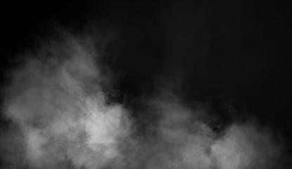 Wall Murals Smoke Smoke on floor . Isolated black background . Misty fog effect texture overlays for text or space