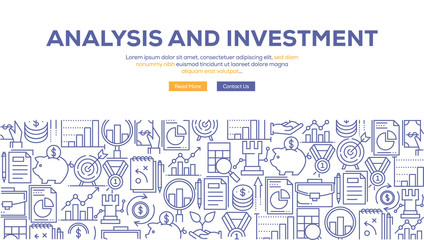 ANALYSIS AND INVESTMENT BANNER CONCEPT