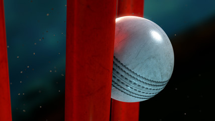 Cricket Ball And Wickets