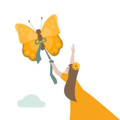 Schmetterling Flug
