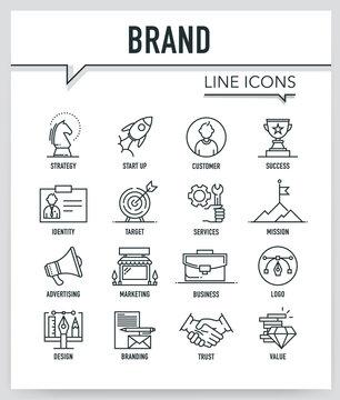 BRAND LINE ICONS