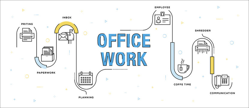 OFFICE WORK INFOGRAPHIC CONCEPT