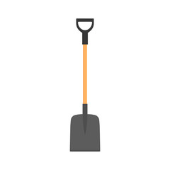 Shovel, spade icon isolated on white background. Garden tool, equipment for farm.