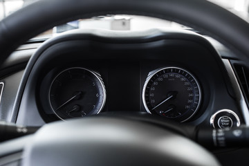 car interior in details
