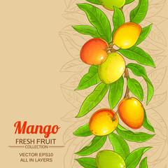 mango vector background